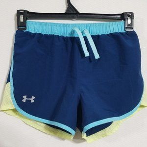 Under Armour Womens Small Running Shorts Blue